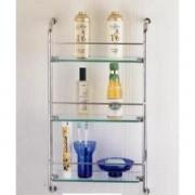 عرباية بثلاث رفوف زجاجيه 3 TIER GLASS WALL MOUNTED  EDIFICE 5113