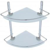 رف زجاجي زاويه بمستويين 2 TIER GLASS WALL MOUNTED  EDIFICE 5112