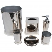 طقم اكسسوار 6 حديد STEEL BATHROOM ACCESSORIES SET INDIAN ACC 144