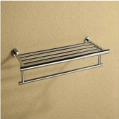 رف مناشف مذدوج DOUBLE TOWEL SHELF ARGENT CRYSTAL 26589
