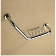 جراب بار منحني BATH HANDRAIL (L SHAPE)W/SOAP BASKET ARGENT CRYSTAL 26782