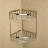 حاملة صابون ولبفه تثبيت جداري CORNER DOUBLE COMMODITY BASKET ARGENT CRYSTAL 303231