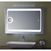 مراية ارجينت كريستال مع اضائه ل ي د LED BACKLIGHTING BATHROOM MIRROR SIZE: 1000X700MM ARGENT CRYSTAL YJ-1772 G