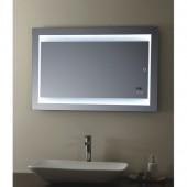 مراية ارجينت كريستال مع اضائه ل ي د LED BACKLIGHTING BATHROOM MIRROR SIZE: 1000X600MM ARGENT CRYSTAL YJ-1998G-DZ11