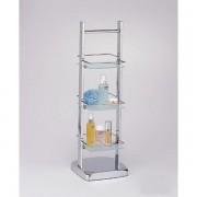 رف زجاجي بثلاثة مستويات 3 TIER GLASS SHELF EDIFICE 6115