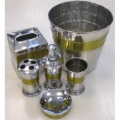 طقم اكسسوار 6 حديد STEEL BATHROOM ACCESSORIES SET INDIAN ACC 126